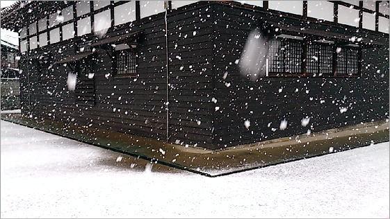 雪の降る予報
