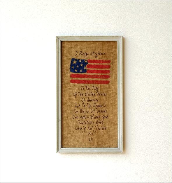 リネンの壁飾り USA2タイプ(1)