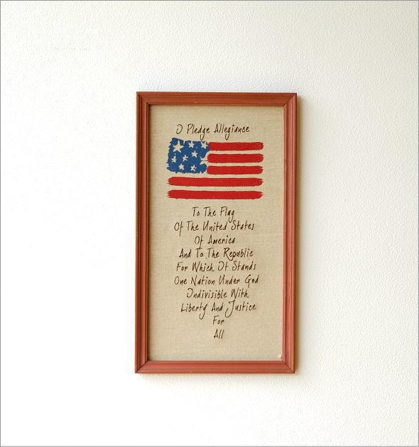 リネンの壁飾り USA2タイプ(2)