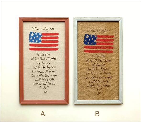 リネンの壁飾り USA2タイプ(5)