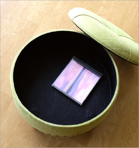 ラウンドスツールbox グリーン(3)