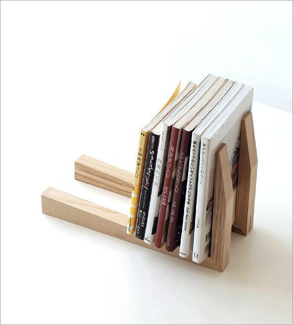 シンプルなウッドのブックエンド(1)
