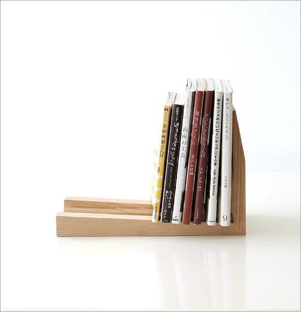 シンプルなウッドのブックエンド(2)