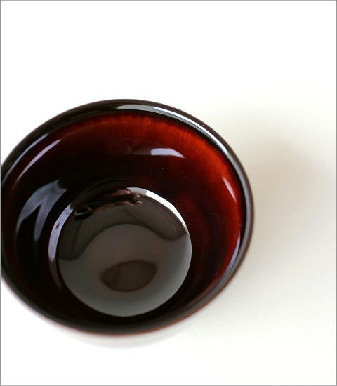 煎茶碗 うるし釉(3)