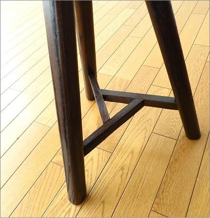 天然木椅子 イス トライアングルスツール(丸 ラウンド)