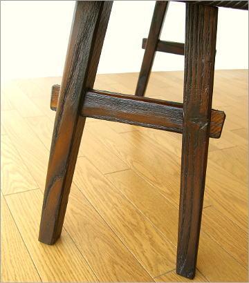 木製ベンチ90 脚部アップ
