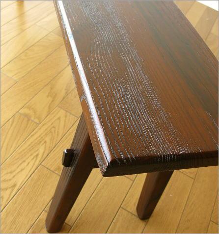 木製ベンチ120 座面アップ