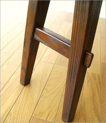 木製ベンチ120 脚部アップ