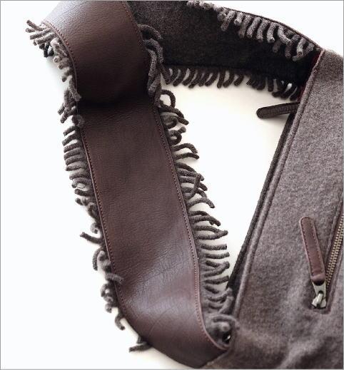 ウールフリンジショルダーバッグ(4)