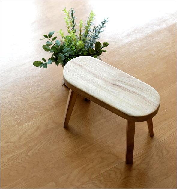 天然木のフラワーベンチ クスノキ(1)