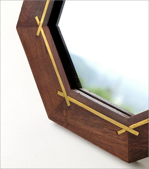 ウッド&ブラスミラー 八角(2)