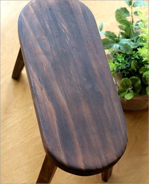 天然木のフラワーベンチ 琉球松BR(2)