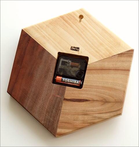 天然木の掛け時計 モザイク(3)