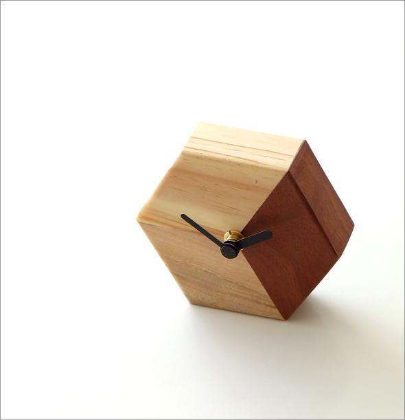 天然木の置き時計 モザイクB(1)