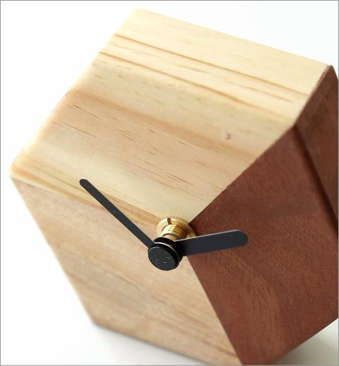 天然木の置き時計 モザイクB(2)