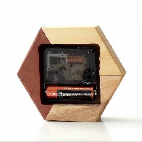 天然木の置き時計 モザイクB(3)