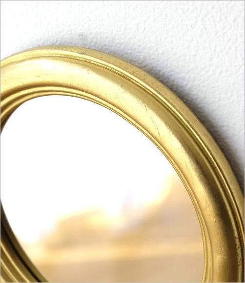 ゴールドラウンドウォールミラー(2)