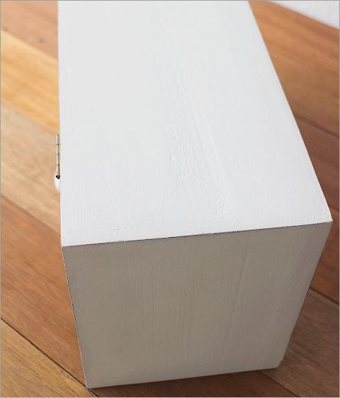 素朴なウッドケース ホワイト(3)