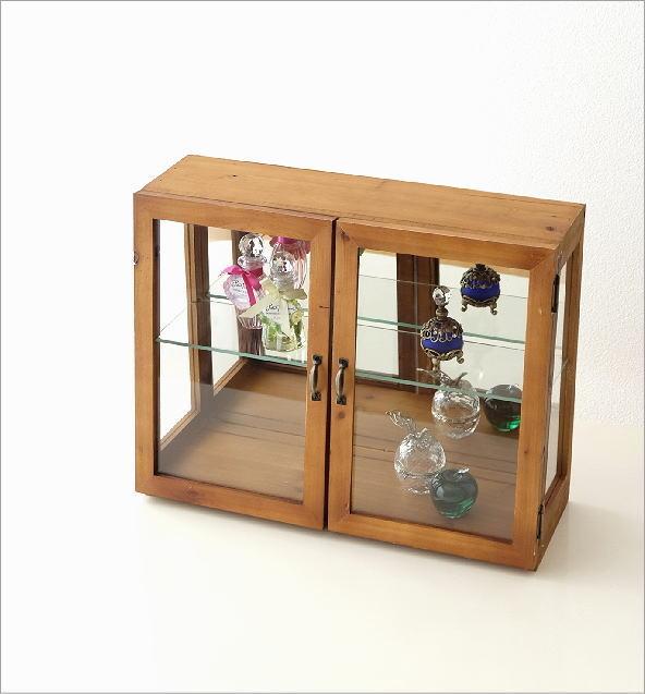 レトロウッドのガラスケース(1)