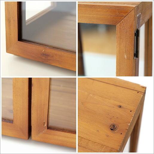 レトロウッドのガラスケース(5)
