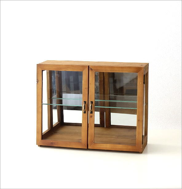 レトロウッドのガラスケース(6)