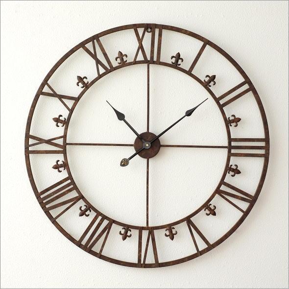 大きな掛け時計アイアンダイヤル