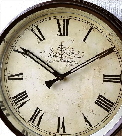 壁掛け時計 クラシックなスチールの掛け時計ナチュラル(2)