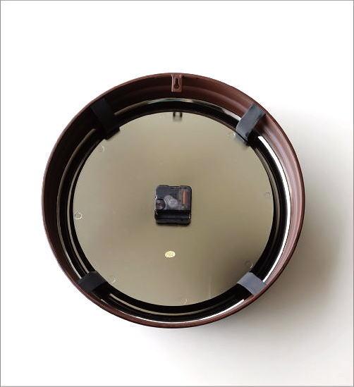 壁掛け時計 クラシックなスチールの掛け時計ナチュラル(4)