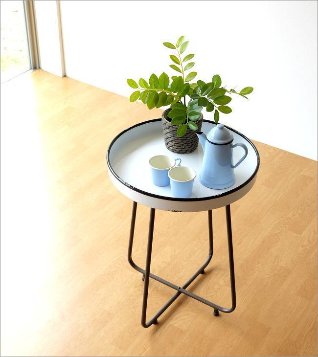 琺瑯のトレイテーブル(1)