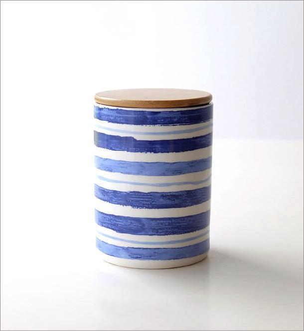 フタ付 陶器のキャニスター C(4)