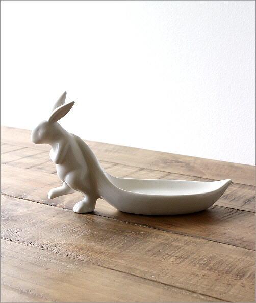 陶器のラビットトレイ(4)