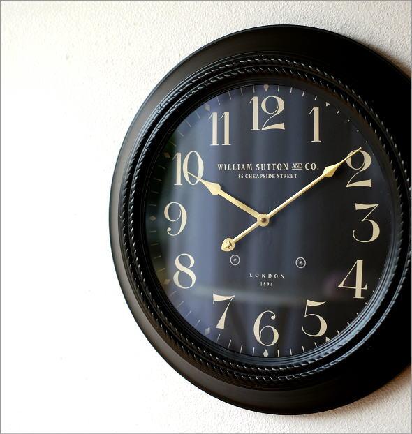 ブラックスチールの掛時計(1)