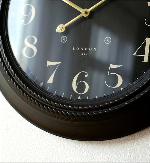 ブラックスチールの掛時計(2)