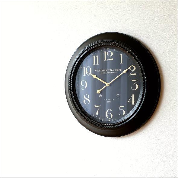 ブラックスチールの掛時計(4)