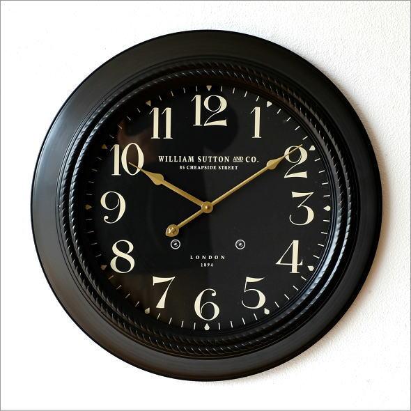 ブラックスチールの掛時計(5)