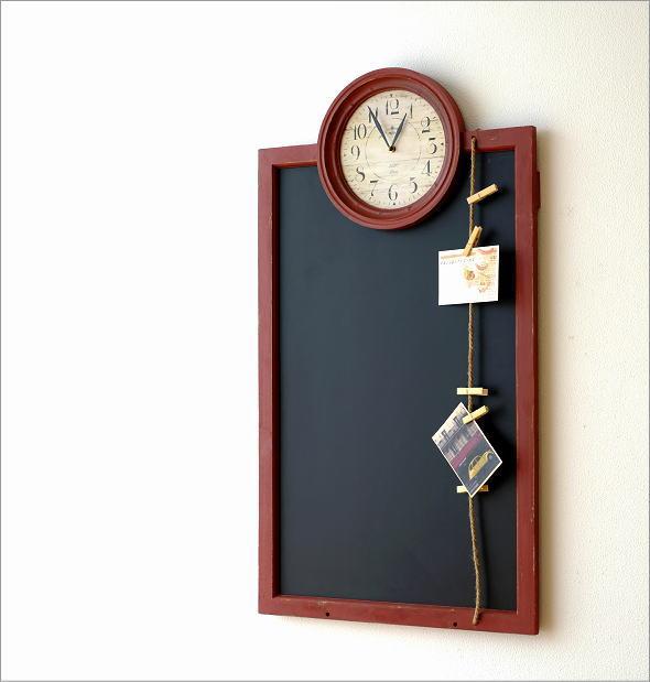 アンティークな時計付き黒板(1)