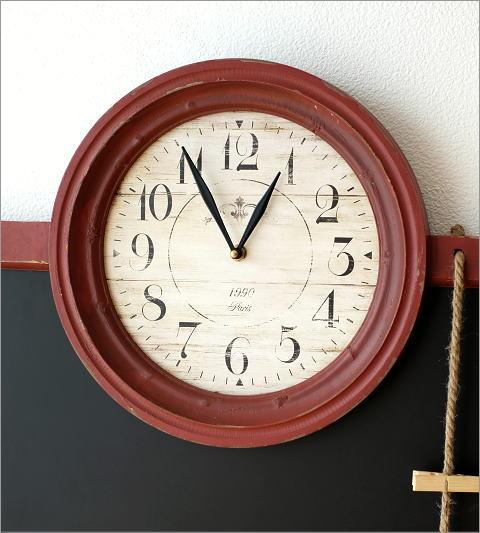 アンティークな時計付き黒板(2)