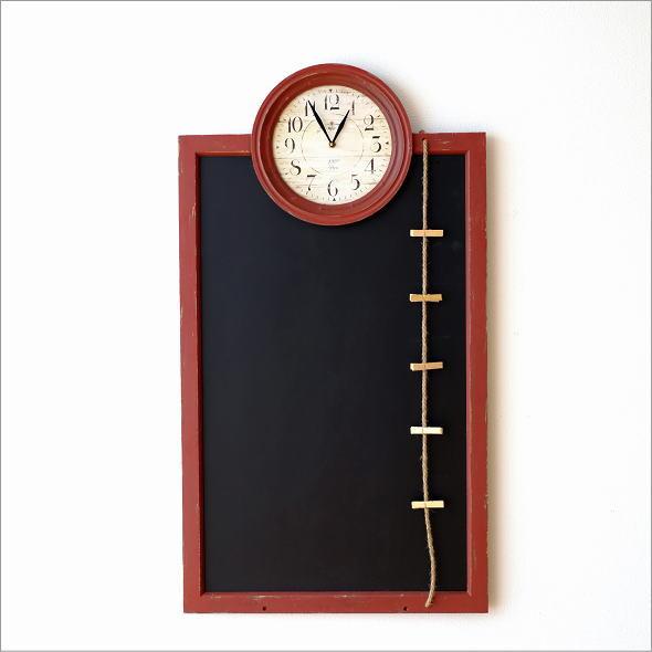 アンティークな時計付き黒板(4)