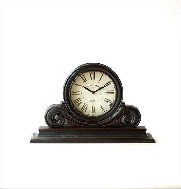 アンティークなウッドの置き時計(4)