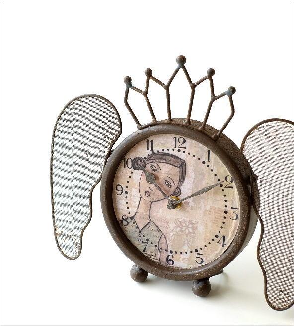 レトロなウィング付き置き時計(1)