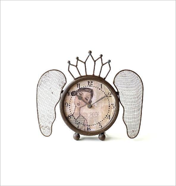 レトロなウィング付き置き時計(5)