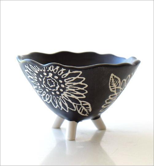 陶器の脚付きプランター(3)