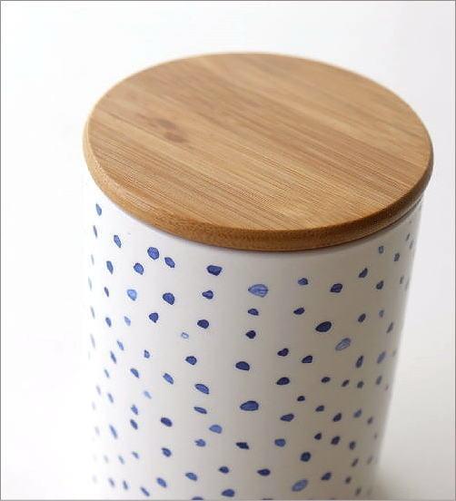 フタ付 陶器のキャニスター B(2)