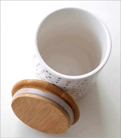 フタ付 陶器のキャニスター B(3)