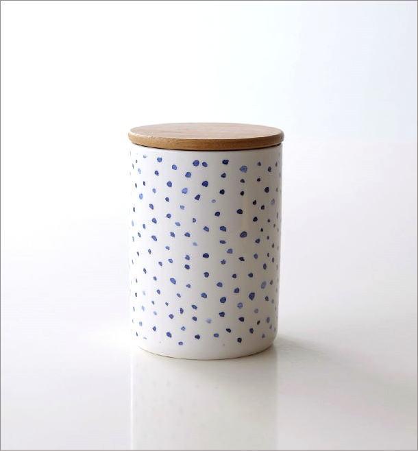 フタ付 陶器のキャニスター B(4)