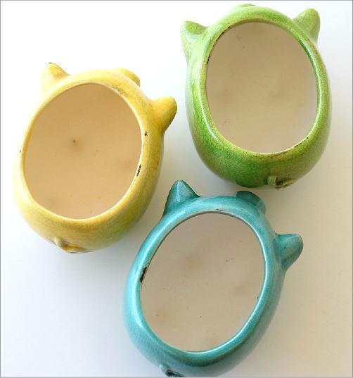 陶器のブタさんミニプランター 3カラー(4)