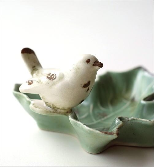 陶器のバードリーフトレイ(2)