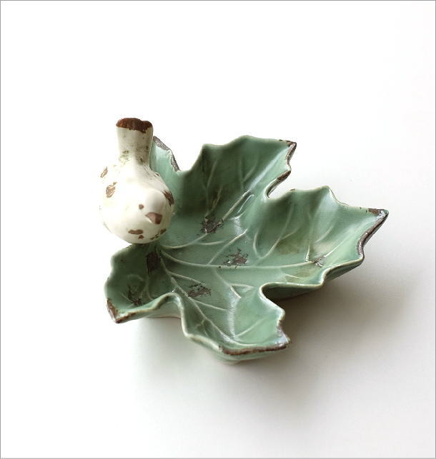 陶器のバードリーフトレイ(3)