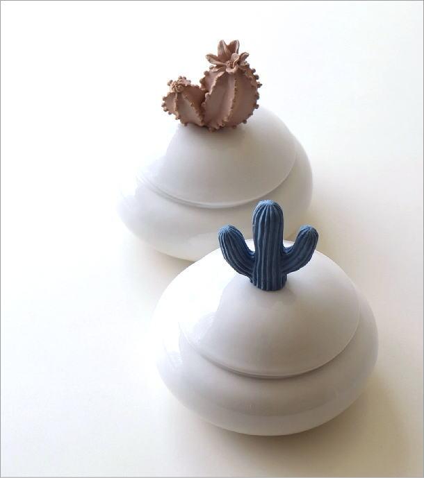陶器のサボテンポット2タイプ(1)
