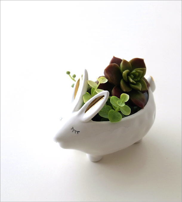陶器のラビット小物入れ(1)